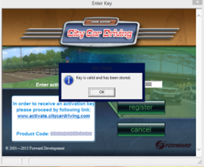 city car driving activation key code